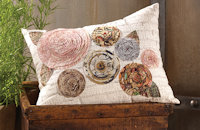 Free sewing pattern for Tim Holtz cushion