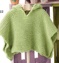 Free pattern for baby hooded poncho