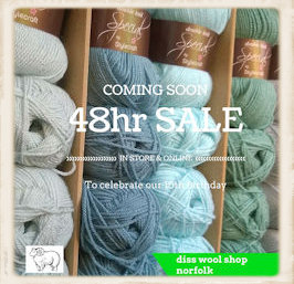 Diss Wool Shop anniversary sale
